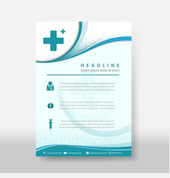 medicine and science flyer amp poster cover vector image
