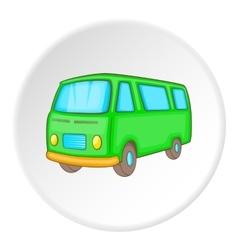 Minibus icon isometric style vector