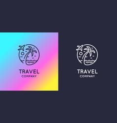 Modern bright logo travel company vector