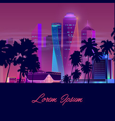 Modern city nightlife cartoon banner vector