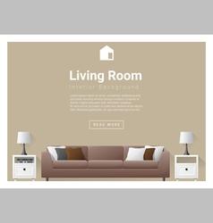 Modern living room interior background 3 vector