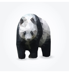 Modern polygon of giant panda vector