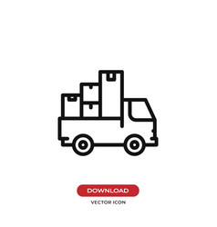 Moving truck icon vector