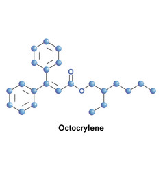 Octocrylene ingredient in cosmetics vector