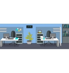 Office Interior Web Banners in Flat Design vector image