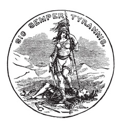 official seal us state virginia in vector image