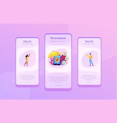 On-demand insurance app interface template vector