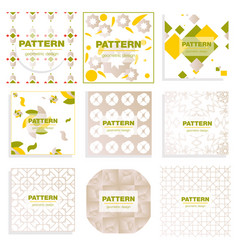 patterns set distress texture grunge design vector image