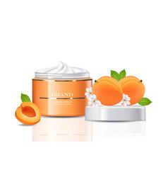 peach cream cosmetics realistic mock up peach vector image
