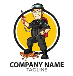 Pest control cartoon logo vector