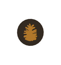 pine cone patch simple nature shape retro vector image