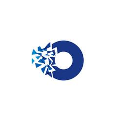 pixel letter o logo icon design vector image