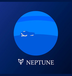 planet neptune in flat style vector image