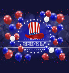 presidents day greeting card stylized the hat vector image