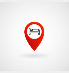 red location icon for hotel room eps file vector image