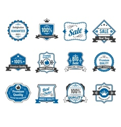 Retro sales labels icons collection vector image