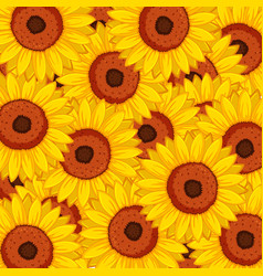 seamless background design with sunflowers vector image