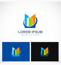 shape colored building business logo vector image