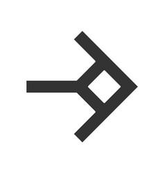 Shaped arrow glyph icon navigation arrowhead sign vector