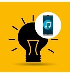 Smartphone music online creativity vector