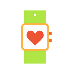 sport watch with screen icon vector image