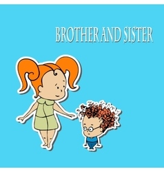 Stock brother and sister greetings vector