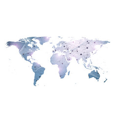 template world map with global technology vector image