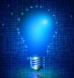 Thinking Idea Light Bulb vector image