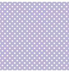 Tile pattern with white polka dots on violet blue vector image