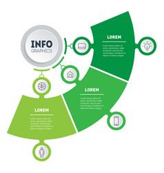 Timeline or infographics development vector