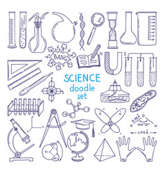tools of sciences isolated on white technology vector image