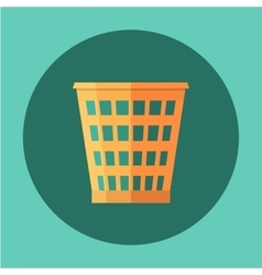 Trash Recycle Bin Garbage Flat icon vector image