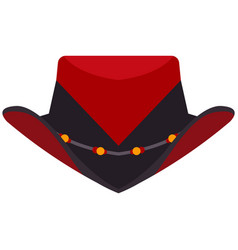 Trendy cowboy hat flat isolated on white vector
