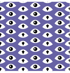 trendy fashion pattern with eyes vector image