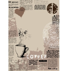 Vertical coffee background vector