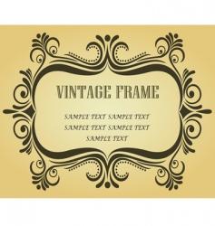 Vintage frame for design vector