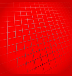 web grid mesh rotated in 3d with shadow vector image