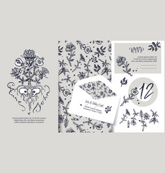 wedding stationary set tree of life vector image