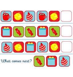 what comes next educational children game kids vector image