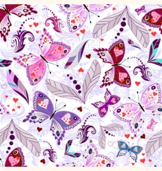 white seamless valentine pattern vector image