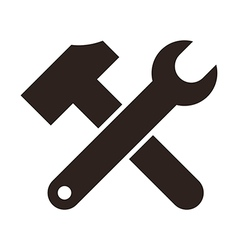 Wrench and hammer vector