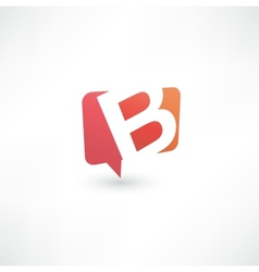 Abstract bubble icon based on the letter B vector image vector image