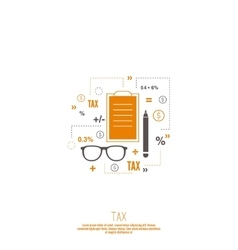 Accounting and Taxes vector image