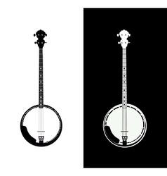 Banjo isolated vector image