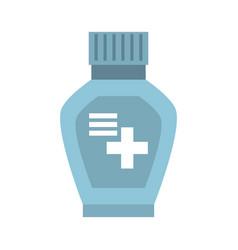 Bottle medicine cross icon vector