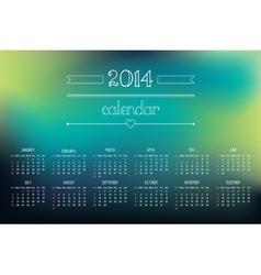 calendar 2014 3 vector image vector image