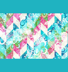 geometric abstract pattern with colorful modern vector image