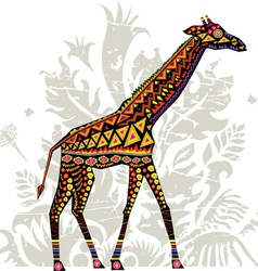 Giraffe with patterns vector image vector image