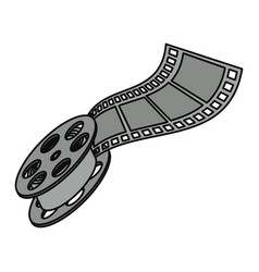 movie reel symbol vector image