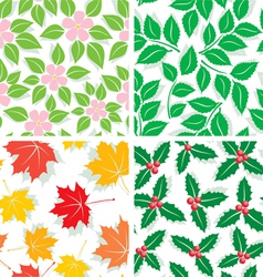 Patterns of four seasons vector image